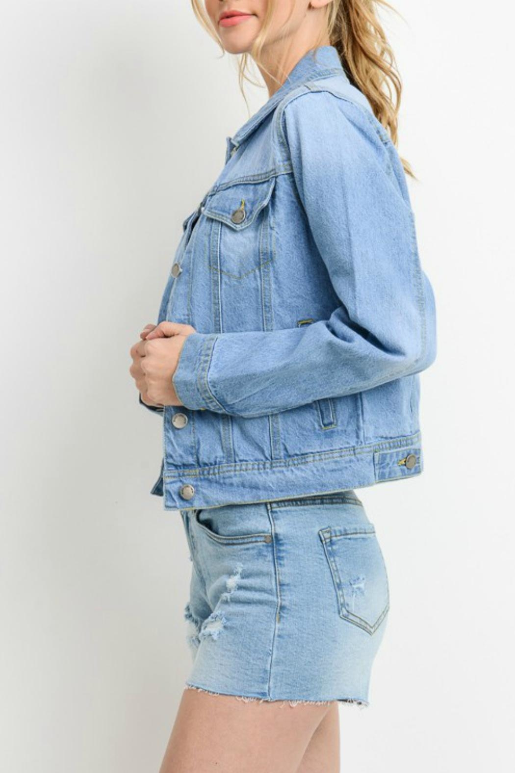 C'ESTTOI Light Denim Jacket - Front Full Image