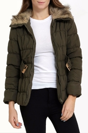 C'ESTTOI Quilted Fur Jacket - Front full body