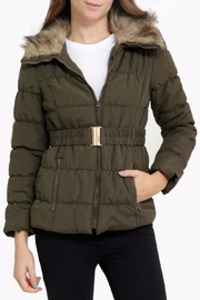 C'ESTTOI Quilted Fur Jacket - Front cropped