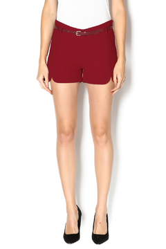 C. Luce Burgundy Shorts - Product List Image