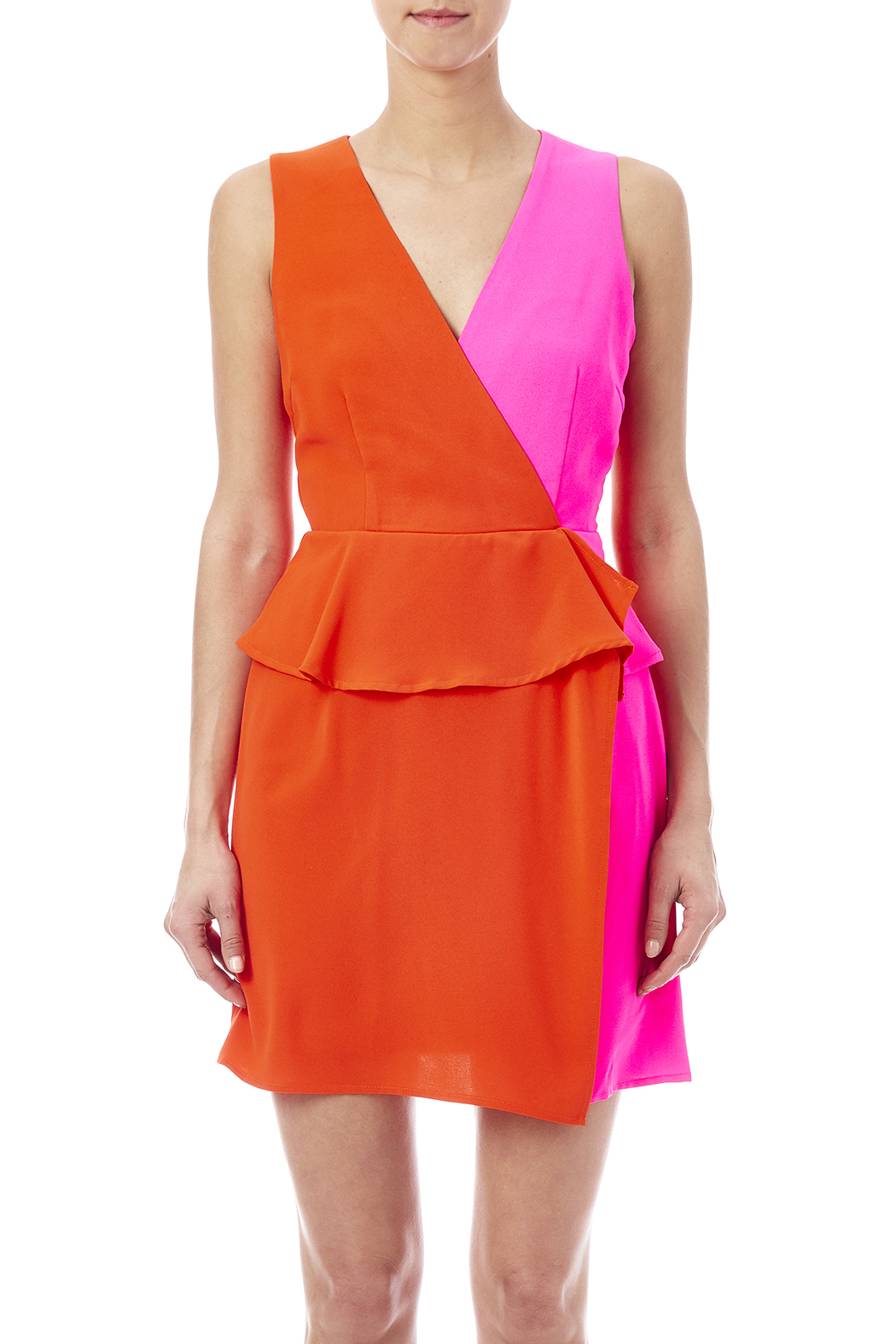C. Luce Colorblock Peplum Dress - Side Cropped Image
