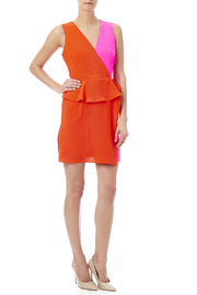 C. Luce Colorblock Peplum Dress - Front full body