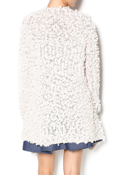 C. Luce Cream Fuzzy Cardigan - Alternate List Image