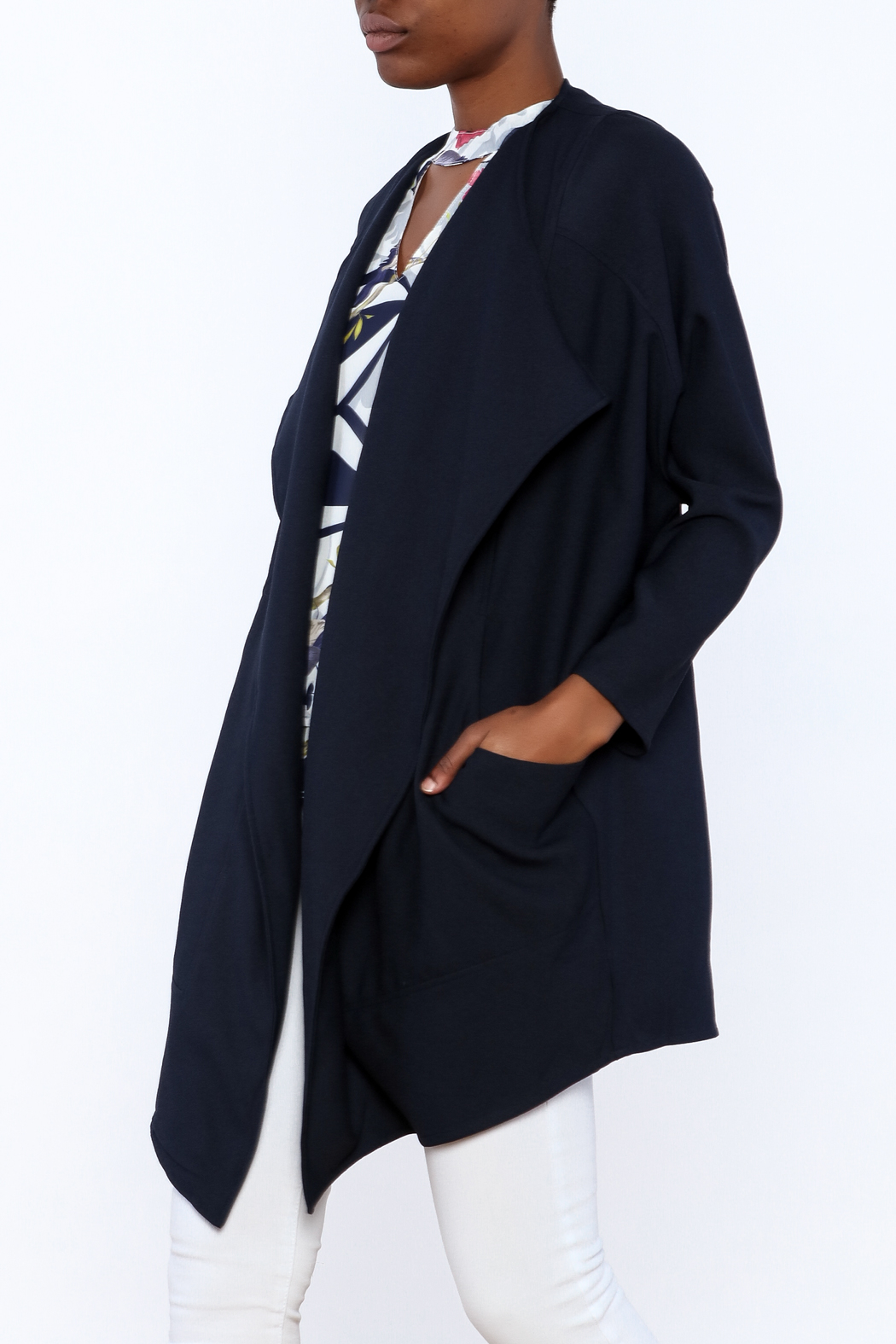 C. Luce Navy Duster Jacket - Main Image