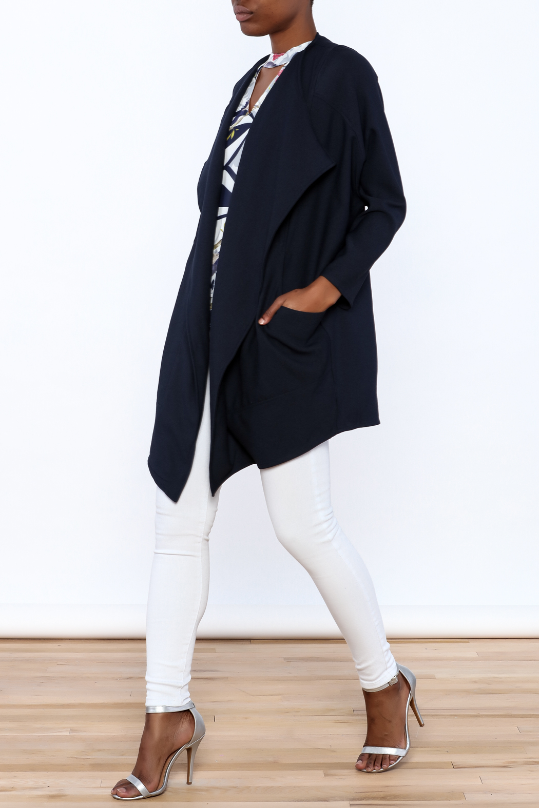 C. Luce Navy Duster Jacket - Front Full Image