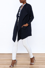C. Luce Navy Duster Jacket - Front full body