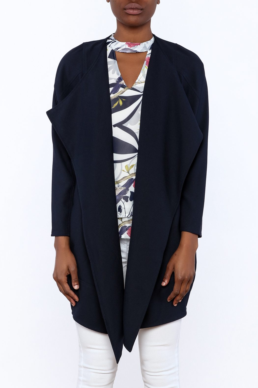 C. Luce Navy Duster Jacket - Side Cropped Image