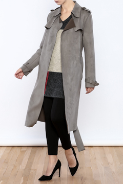 Shoptiques Product: Suedette Trench Coat