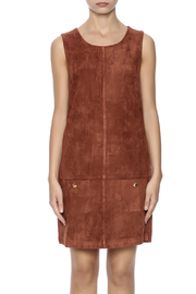 C. Luce Tobacco Faux Suede Dress - Side cropped