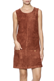 C. Luce Tobacco Faux Suede Dress - Front cropped