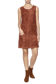 C. Luce Tobacco Faux Suede Dress - Front full body