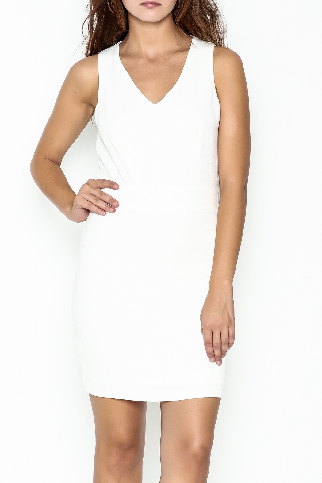 C. Luce White Stella Dress - Front Cropped Image