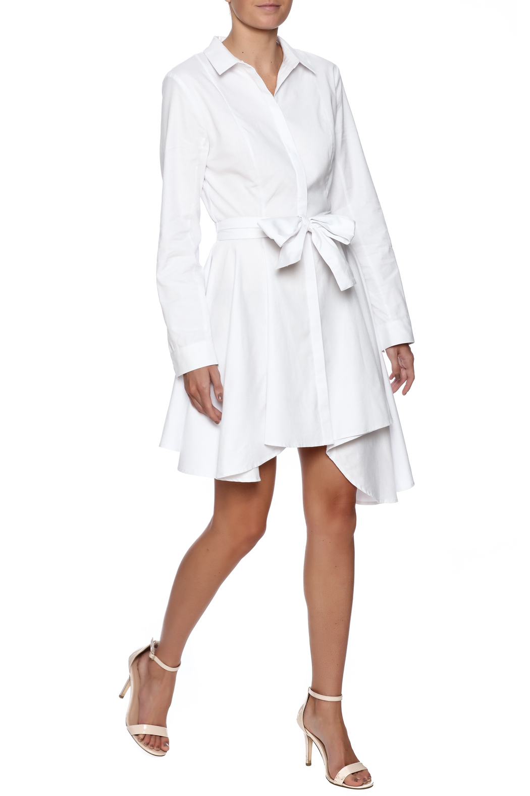 C/MEO COLLECTIVE White Shirt Dress - Front Full Image