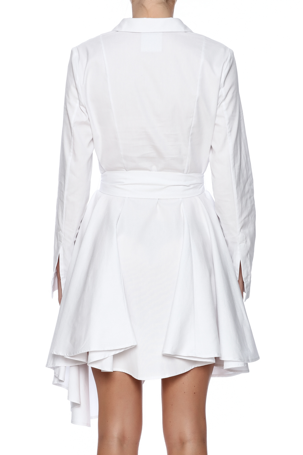 C/MEO COLLECTIVE White Shirt Dress - Back Cropped Image