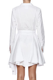C/MEO COLLECTIVE White Shirt Dress - Back cropped