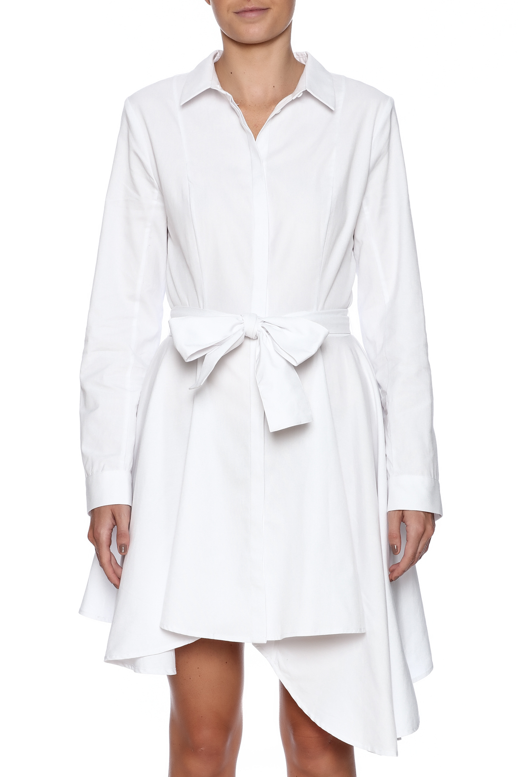 C/MEO COLLECTIVE White Shirt Dress - Side Cropped Image