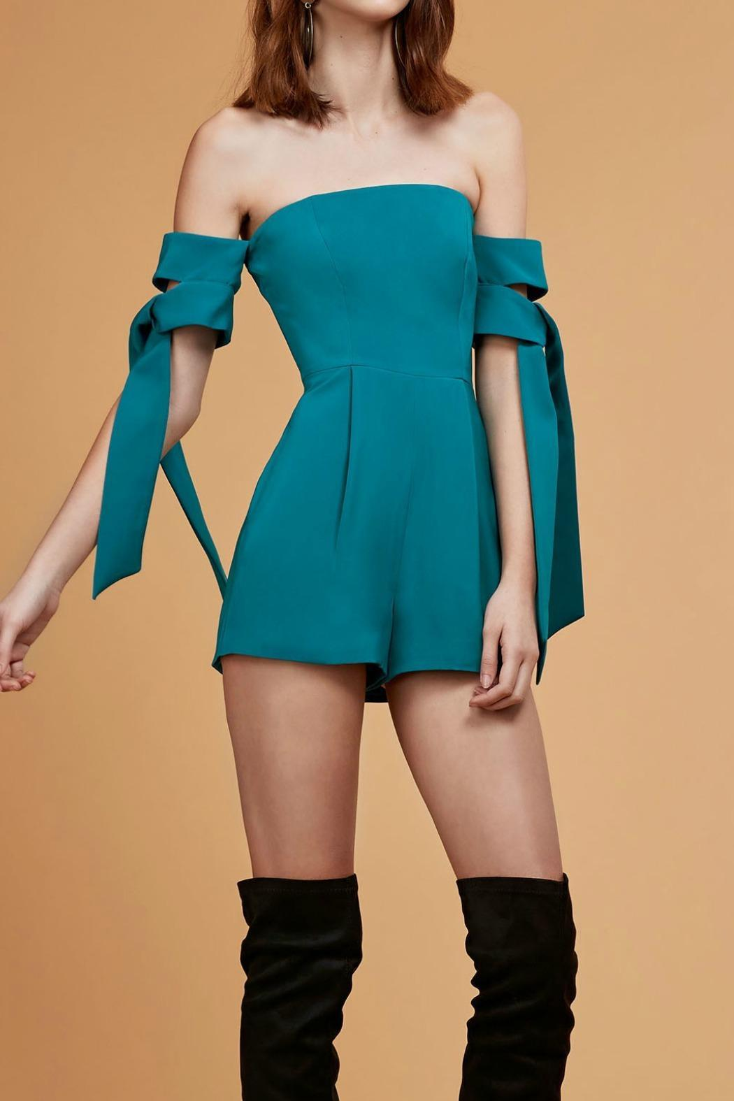 C/MEO COLLECTIVE Charged Up Playsuit - Front Full Image