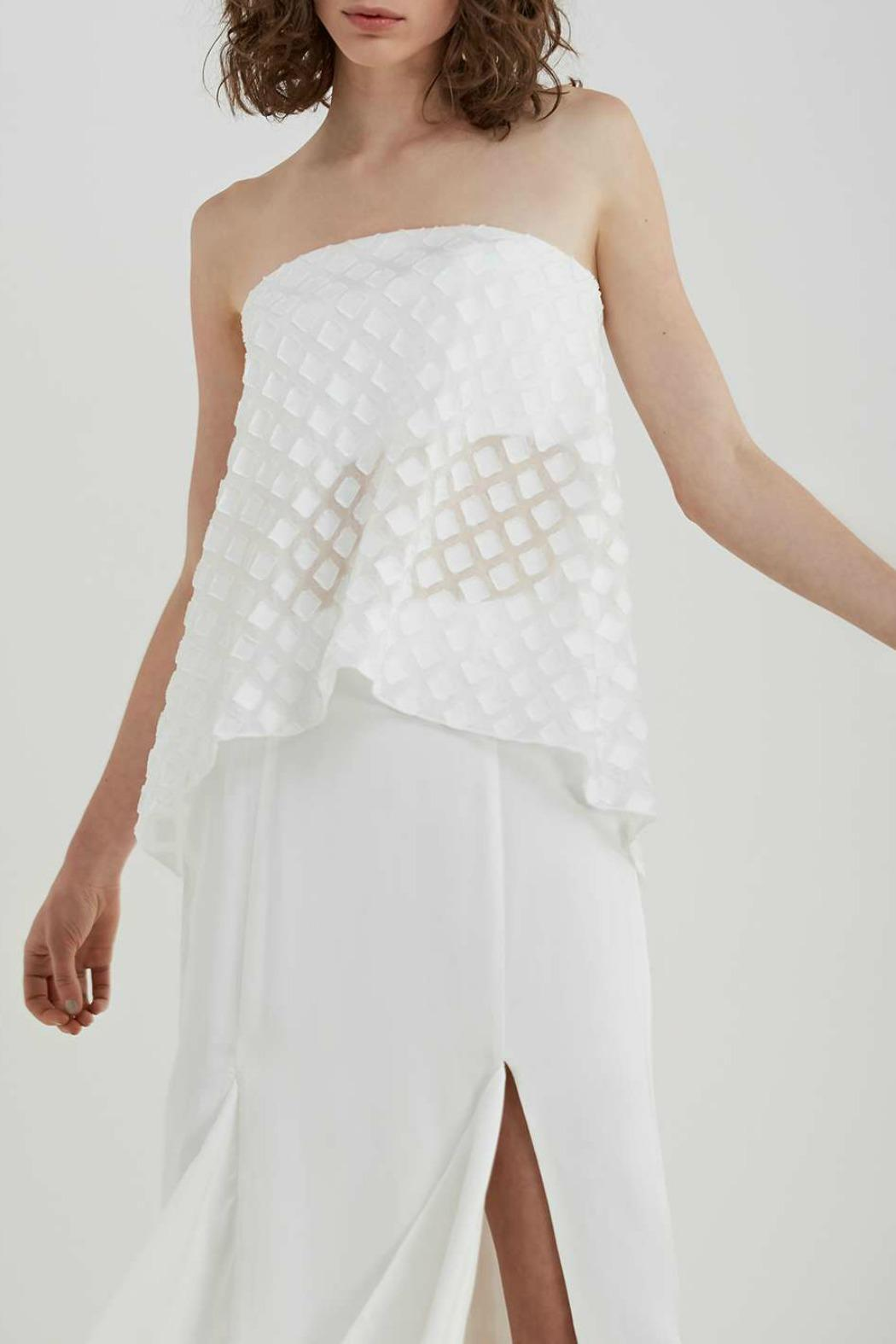 C/MEO COLLECTIVE Faded Light Bustier - Front Full Image