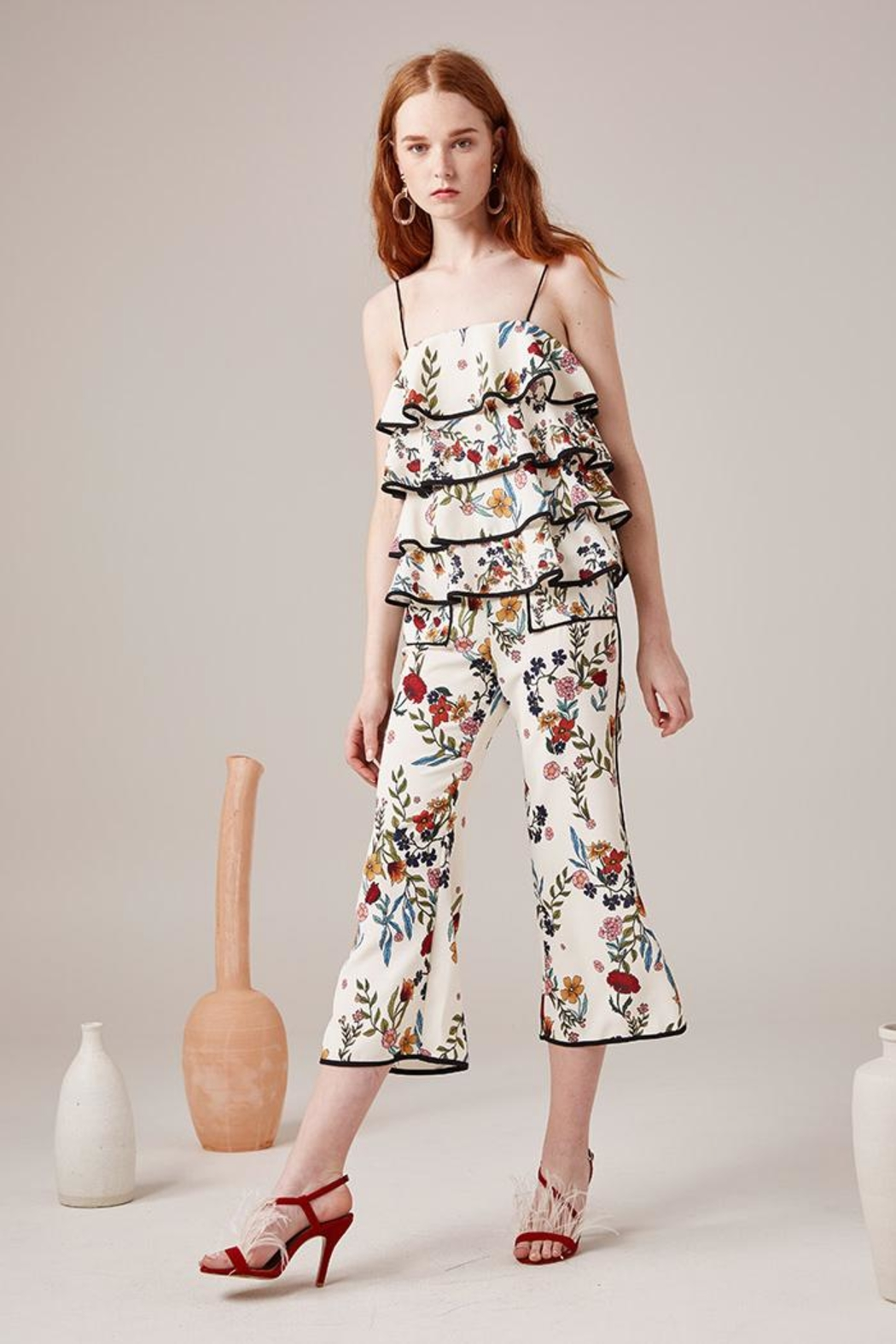 C/MEO COLLECTIVE Floral Pants - Side Cropped Image