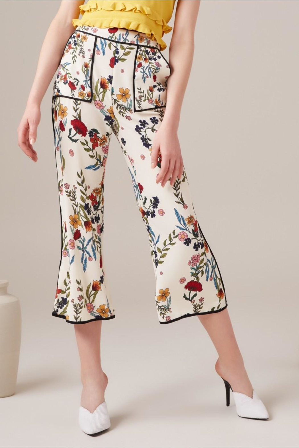 C/MEO COLLECTIVE Floral Pants - Main Image