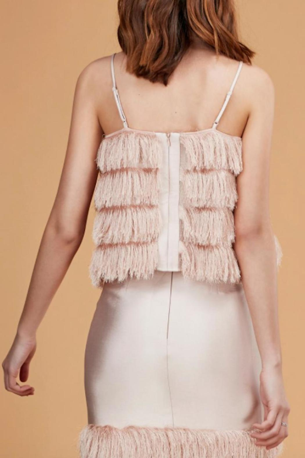 C/MEO COLLECTIVE Fringed Top - Side Cropped Image