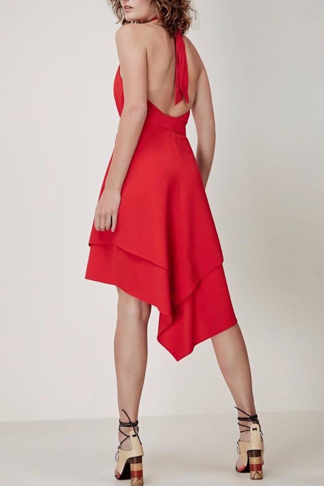 C/MEO COLLECTIVE Halter Neck Dress - Front Full Image