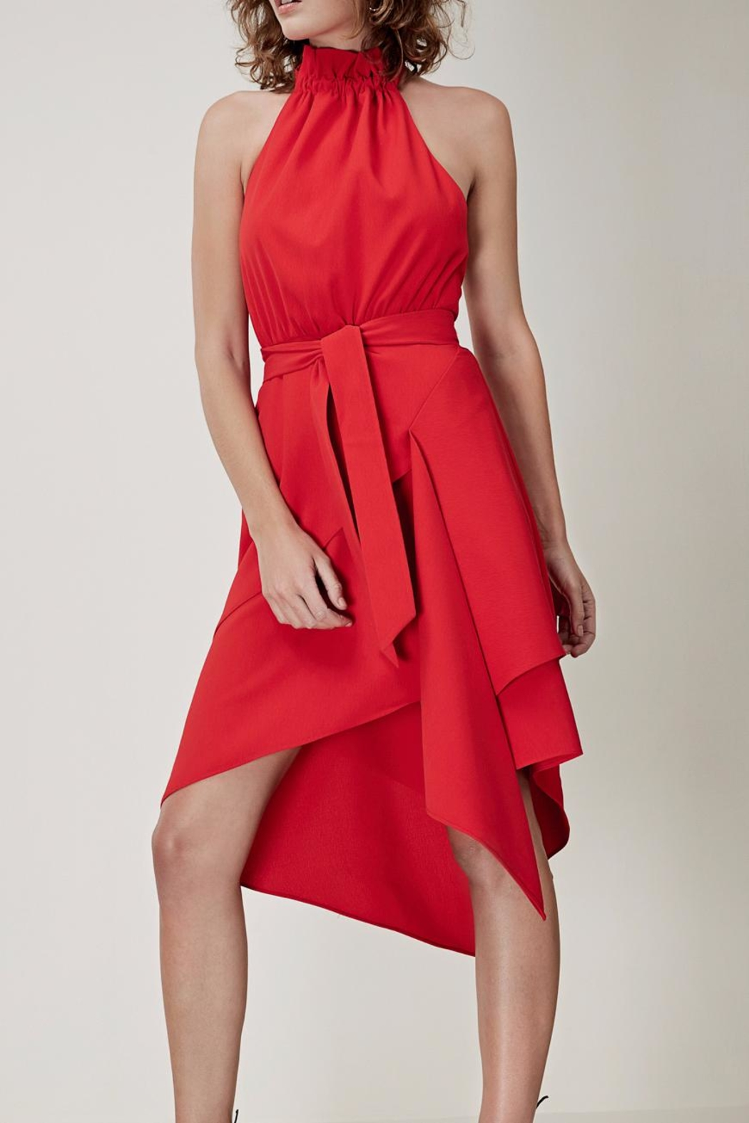 C/MEO COLLECTIVE Halter Neck Dress - Front Cropped Image