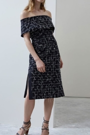C/MEO COLLECTIVE Black Off Shoulder Dress - Product Mini Image