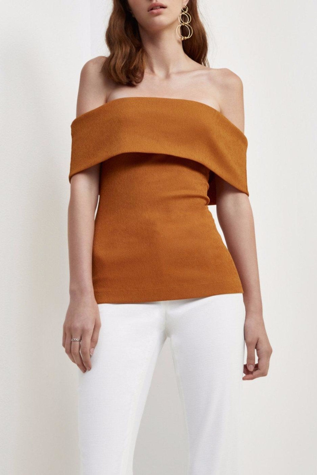 C/MEO COLLECTIVE Tawny Off Shoulder Top - Main Image