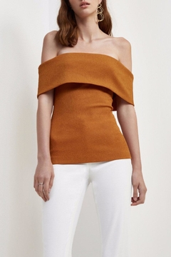C/MEO COLLECTIVE Tawny Off Shoulder Top - Product List Image