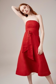 C/MEO COLLECTIVE Red Midi Dress - Front cropped