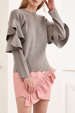 C/MEO COLLECTIVE Ruffle Knit Top - Product List Image