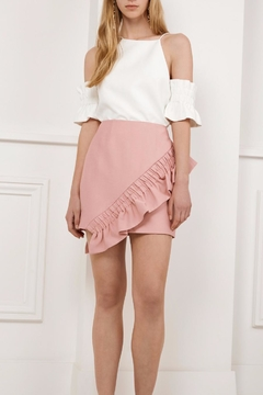 C/MEO COLLECTIVE Ruffle Mini Skirt - Product List Image