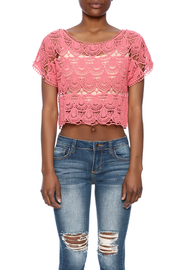 C Mode Coral Crocheted Crop Top - Side cropped