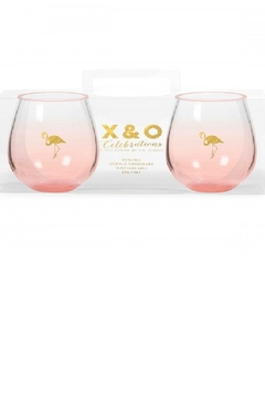 C.R. Gibson Gold Flamingo Stemless - Product List Image