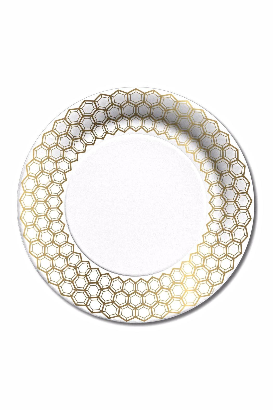 C.R. Gibson Prismatic Dinner Plates - Main Image