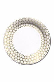 C.R. Gibson Prismatic Dinner Plates - Front cropped