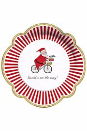C.R. Gibson Santa Dinner Plates - Front cropped