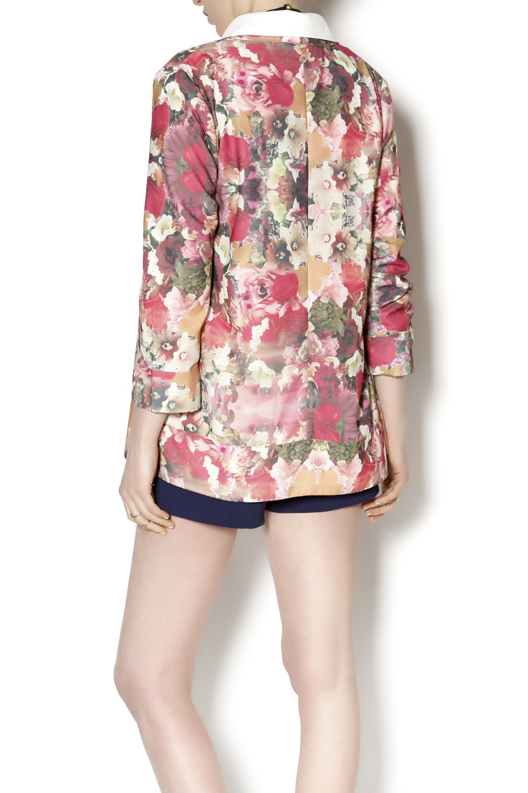 Gentle Fawn Floral Print Blazer - Back Cropped Image
