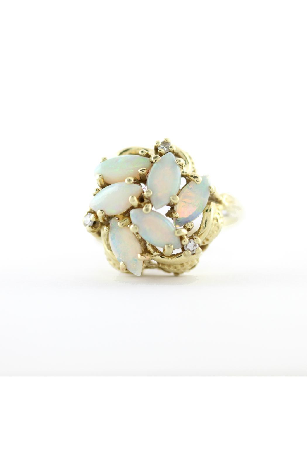 CDO  Opal Cluster Ring - Back Cropped Image