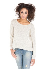 MYNE Scoop Neck Knit Sweater - Front cropped