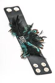 Creative Treasures Feather Cuff Bracelet - Front cropped