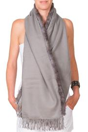 CLAIRE FLORENCE Grey Mink Travel Wrap - Product Mini Image