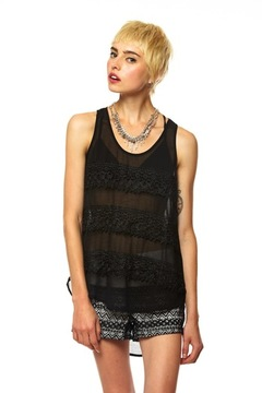 Shoptiques Product: Sheer Lace Top