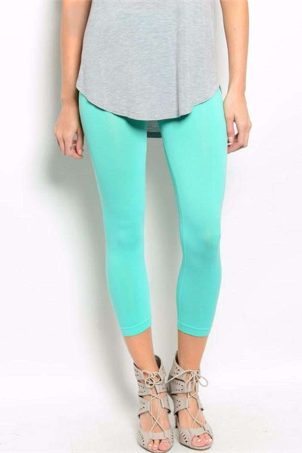 6b74a81d83d23 soho girls Mint Capri Leggings from Indiana by Lucy Couture — Shoptiques