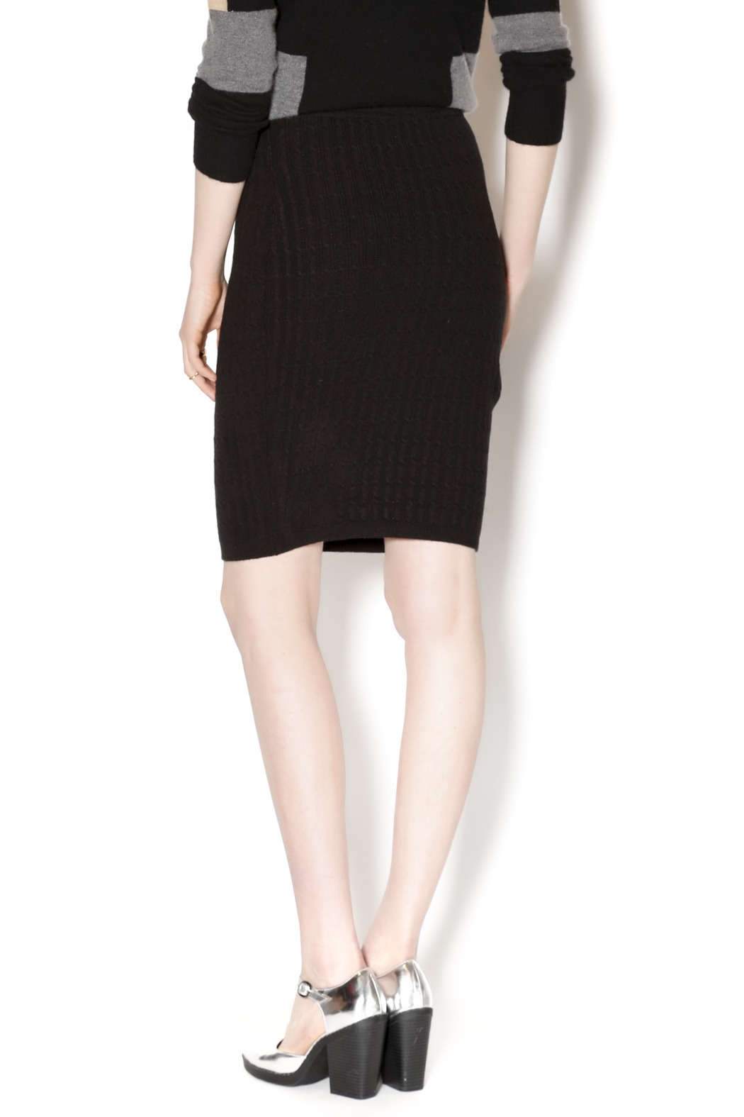 M. Rena Cable Sweater Skirt - Back Cropped Image
