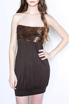 Shoptiques Product: Sparkly Brown Strapless