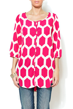 Shoptiques Product: Gold Button Printed Tunic