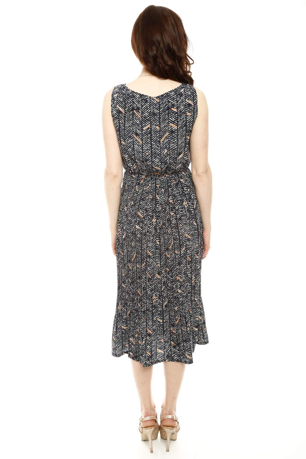 Bukky Toto Pleat Maxi Dress - Side Cropped Image