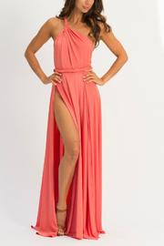 Abyss Vamp One-Shoulder Maxi - Front cropped